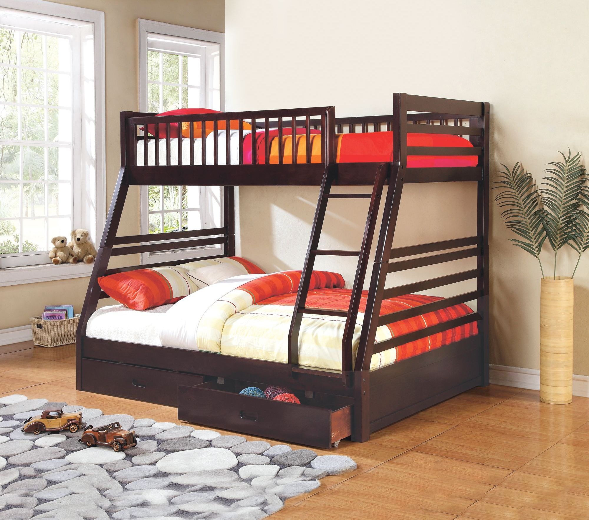 'Cooper' TwinOverDouble Bunk Bed With Storage Bunk bed