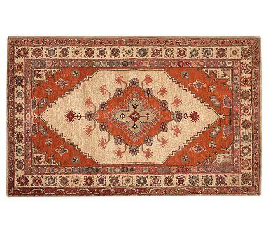 Sahara Persian Style Rug 5x8 Feet Orange Multi