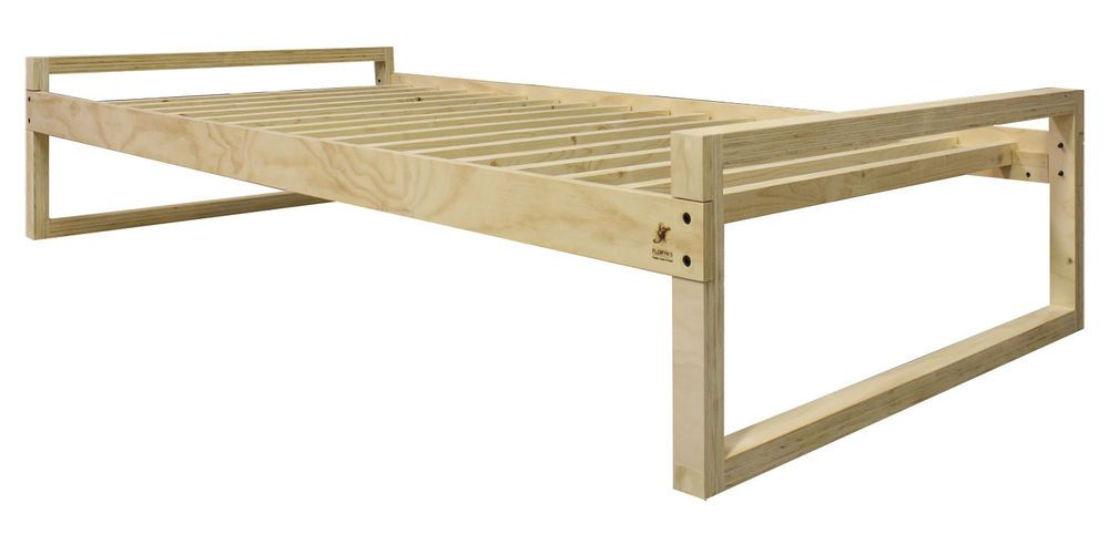 Twin Xl Platform Bed Frame Linear New Home Garden Furniture