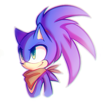 Random Sonic wearing pony tail. I did not draw this!