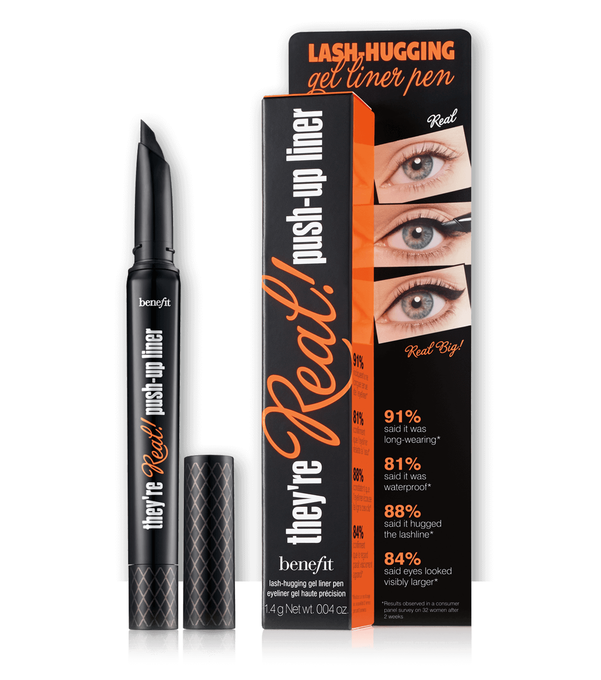 they're real! push-up liner, eyeliner gel in penna