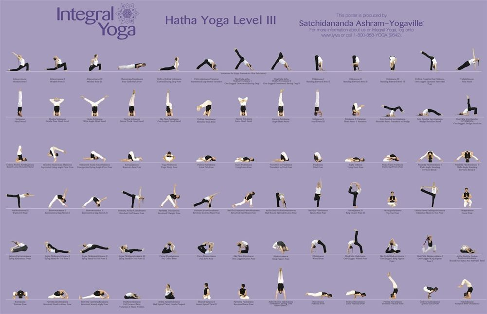 This Is A Beautifully Printed Poster Demonstration The Standard And Optional Poses In An Advanced Integral Y Integral Yoga Hatha Yoga Sequence Hatha Yoga Poses