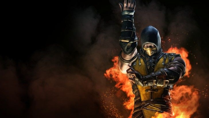 download scorpion flame mortal kombat x wallpaper 1920x1080
