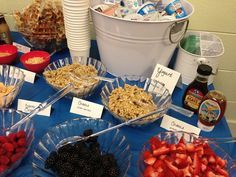 Yogurt Bar for Teacher Appreciation Breakfast #custodianappreciationgifts