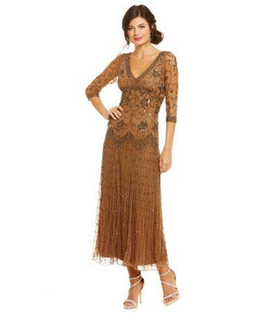 276a3205d03 Shop for Pisarro Nights 3 4-Sleeve Beaded Dress at Dillards.com. Visit  Dillards.com to find clothing