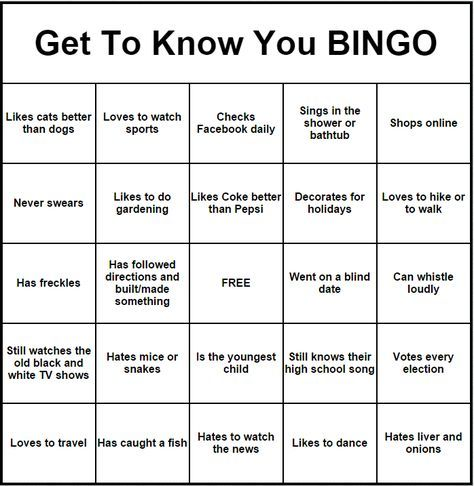 Pin By Sherry Dunn Smith On Great Quotes And Such People Bingo Get To Know You Activities Getting To Know You