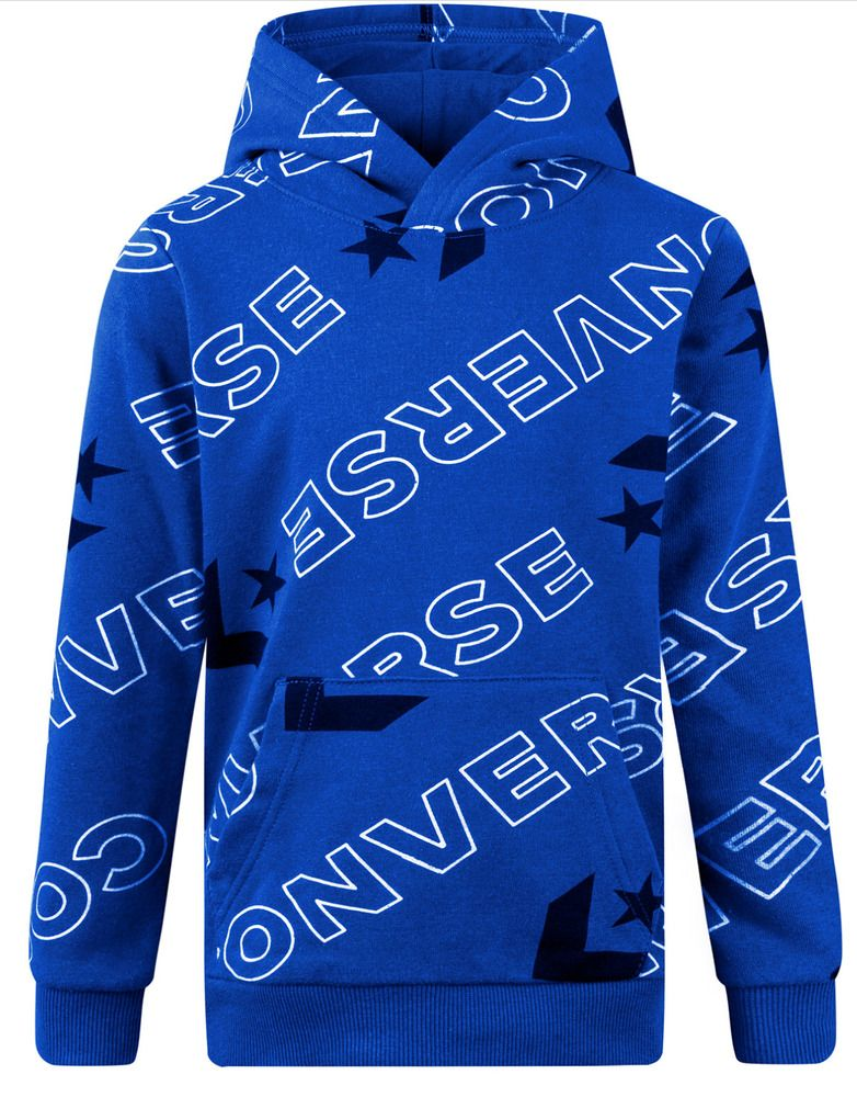 Blue Converse Big Boy/'s Logo Print Hoodie