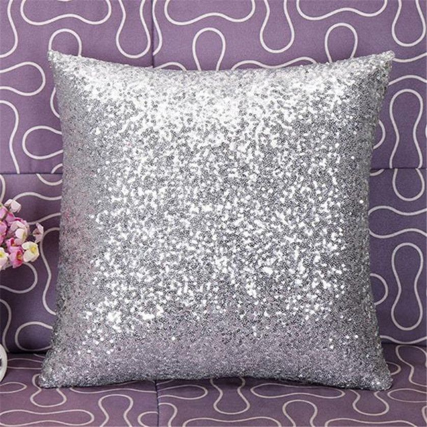 fd925b9d9dc5 Solid Color Glitter Sequins Throw Pillow Case Cafe Home Decor Cushion Covers  Aug10 3  Affiliate