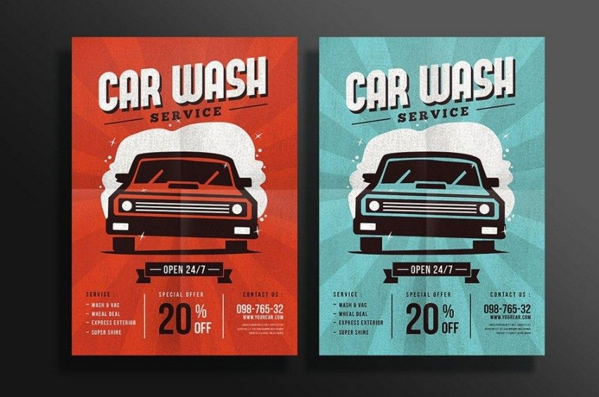 20+ Car Wash Flyer Template PSD for Company Branding 20+ Car - car flyer template