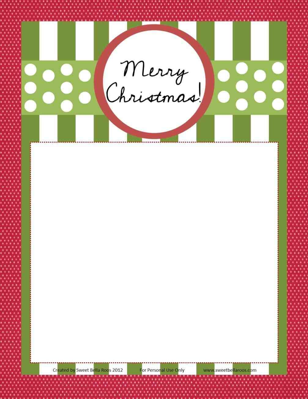 New Christmas Letter Template With Lines At TemasistemiNet