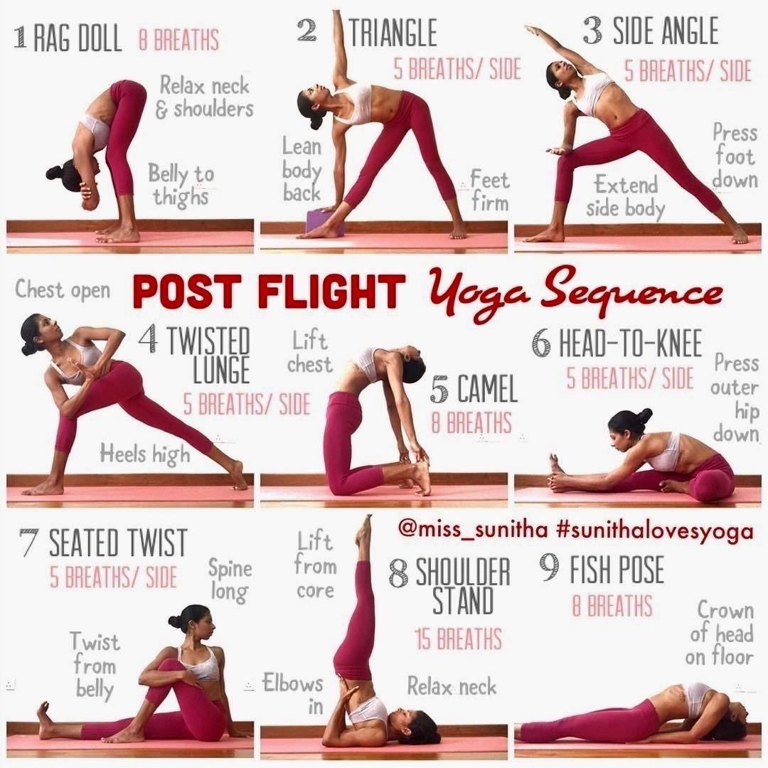 Flight Yoga Sequence. . Whether you're headed for a ...