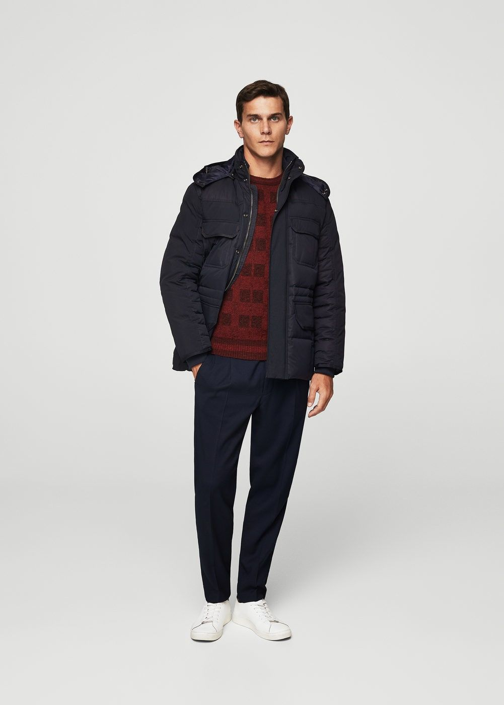 Anorak capucha plumón - Hombre | MNG Man Colombia