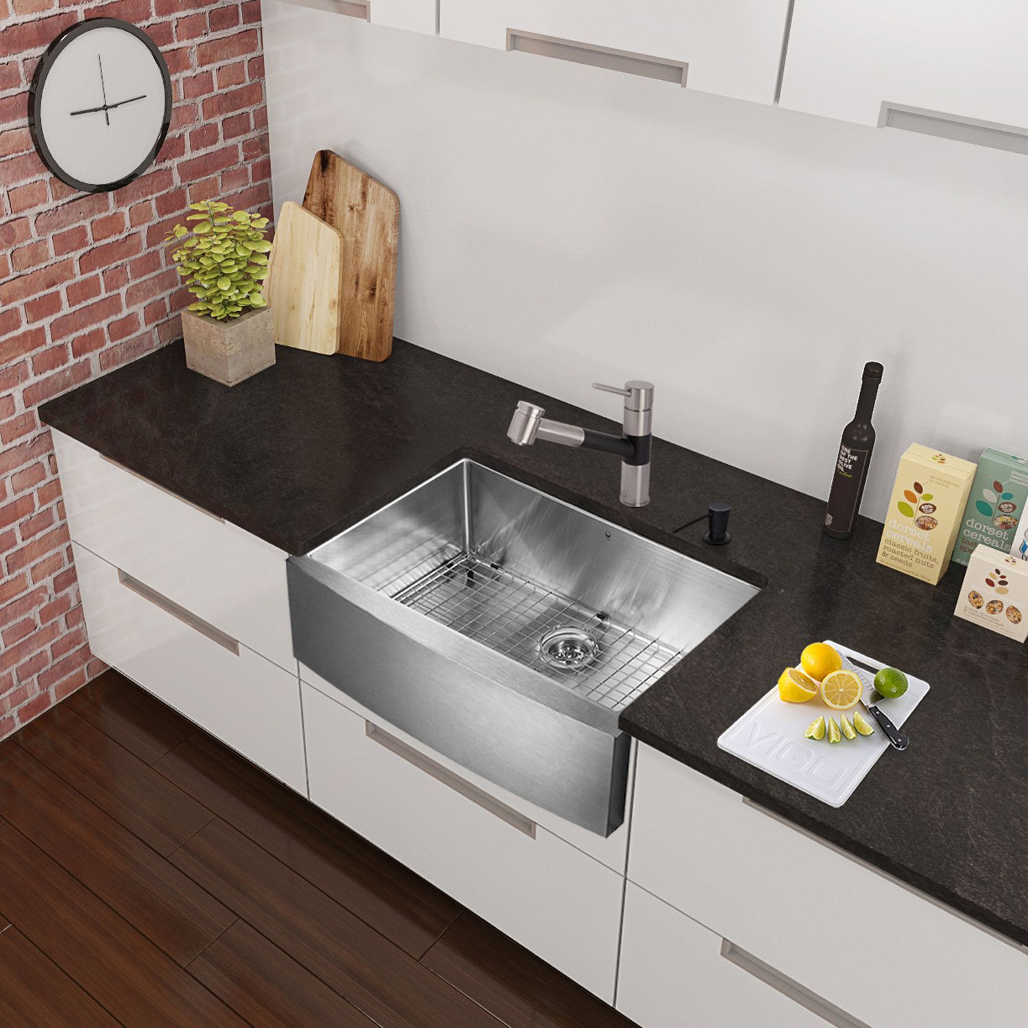 Single sink kitchen  Branson Single Handle PullOut Spray Kitchen Faucet  Products