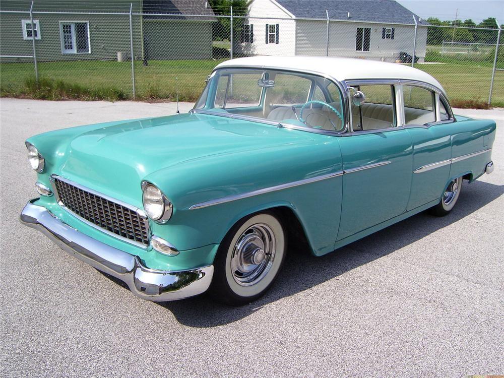 custom 1965 chevy belair 4 door sedan for sale 1955