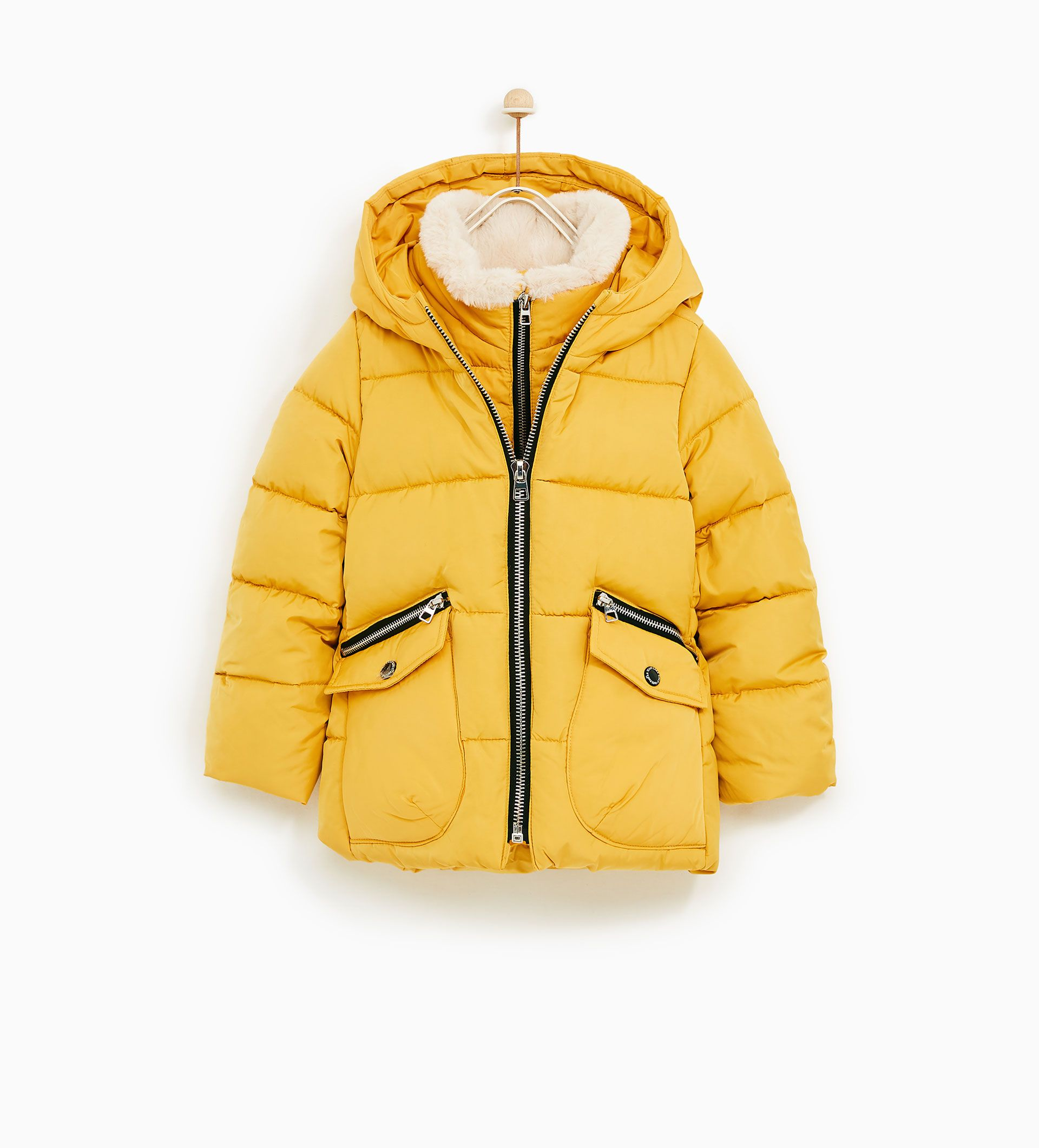 e69f2ee93 Image 1 of DOWN PUFFER JACKET WITH FAUX FUR COLLAR from Zara ...
