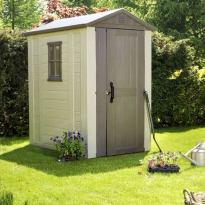 Garden Sheds 6x4 keter 6x4 factor plastic garden shed - home delivered