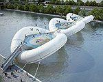 Trampoline Bridge Crosses the Seine