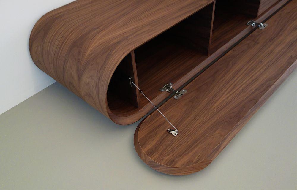 Modern tv meubel van notenhout kasten media meubels