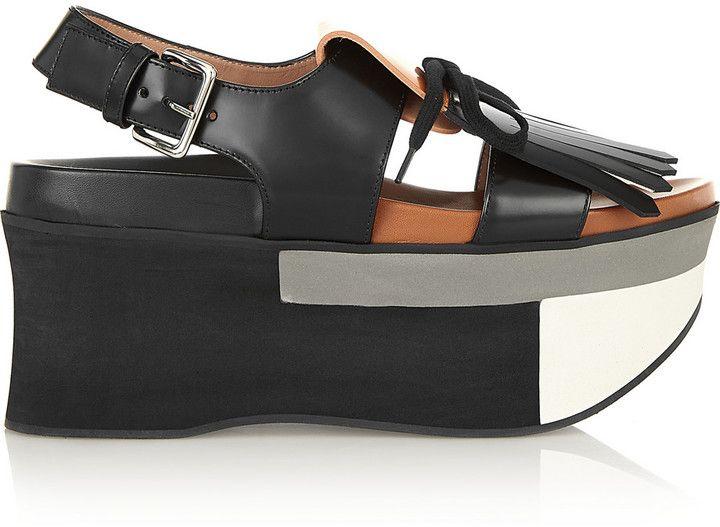 f91ab35770ba Marni Two-tone leather platform sandals