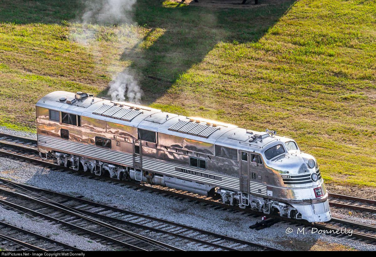 cbq 9911 a chicago burlington quincy railroad emd e5 at spencer north carolina by matt donnelly scenic railroads railroad photography train pictures quincy railroad emd e5