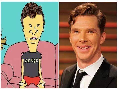 Butthead is really Benedict Cumberbatch?
