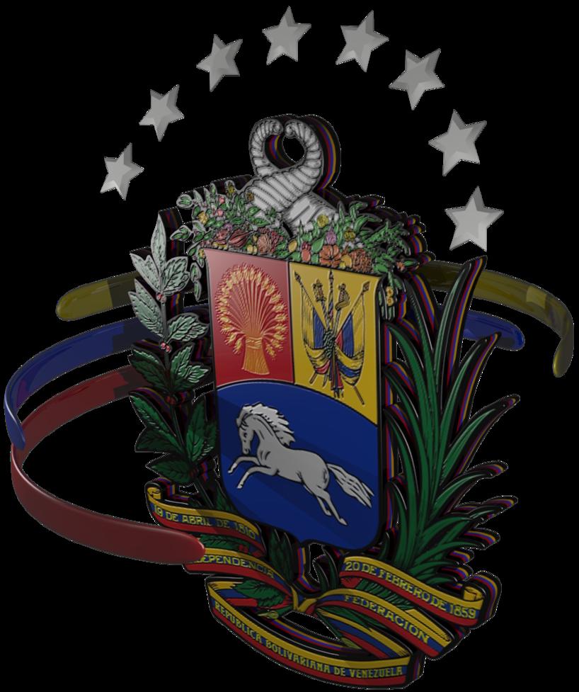 Escudo De La Republica Bolivariana De Venezuela En 3d Escudo De Venezuela Venezuela Escudo