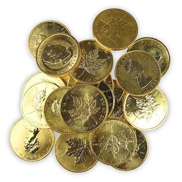 Buy Scruffy Gold Maple Leaf 1 Oz Coins Priced Close To Melt Value Coins Gold Bullion Coin Prices
