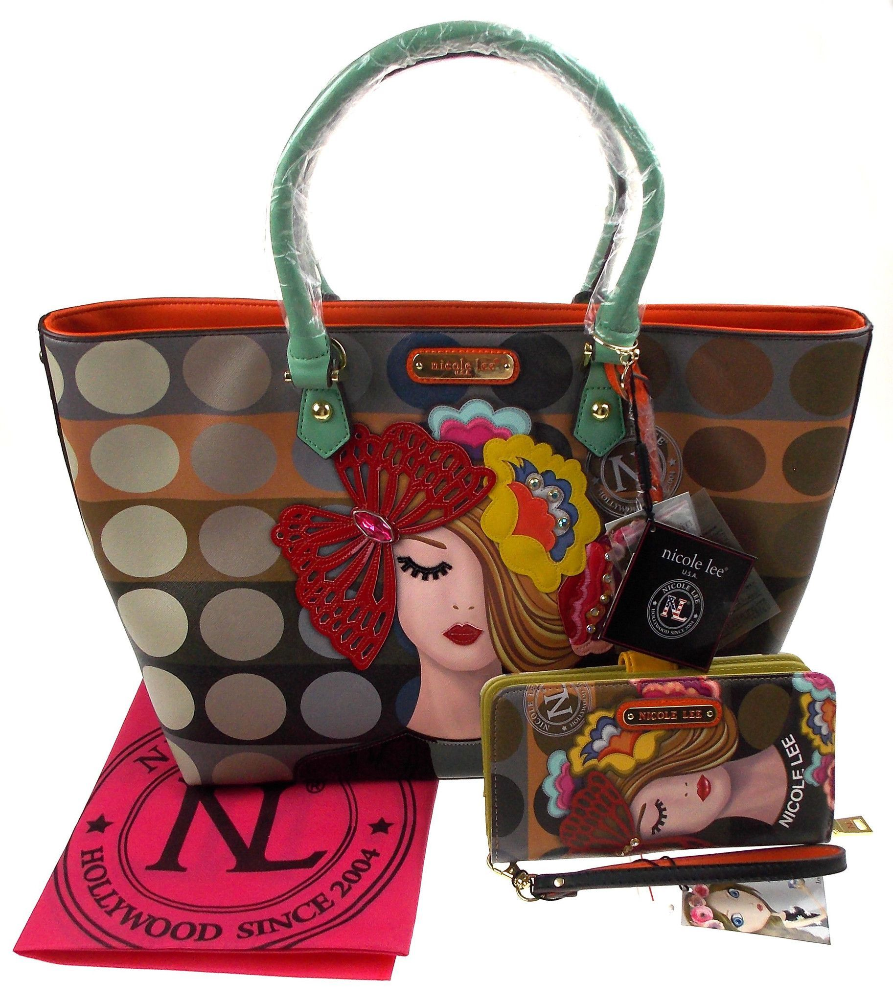 Vicky Print amp; VIC11688 Thinks Handbag Wallet Tote Fashion Nicole Lee gCn5Wxfn