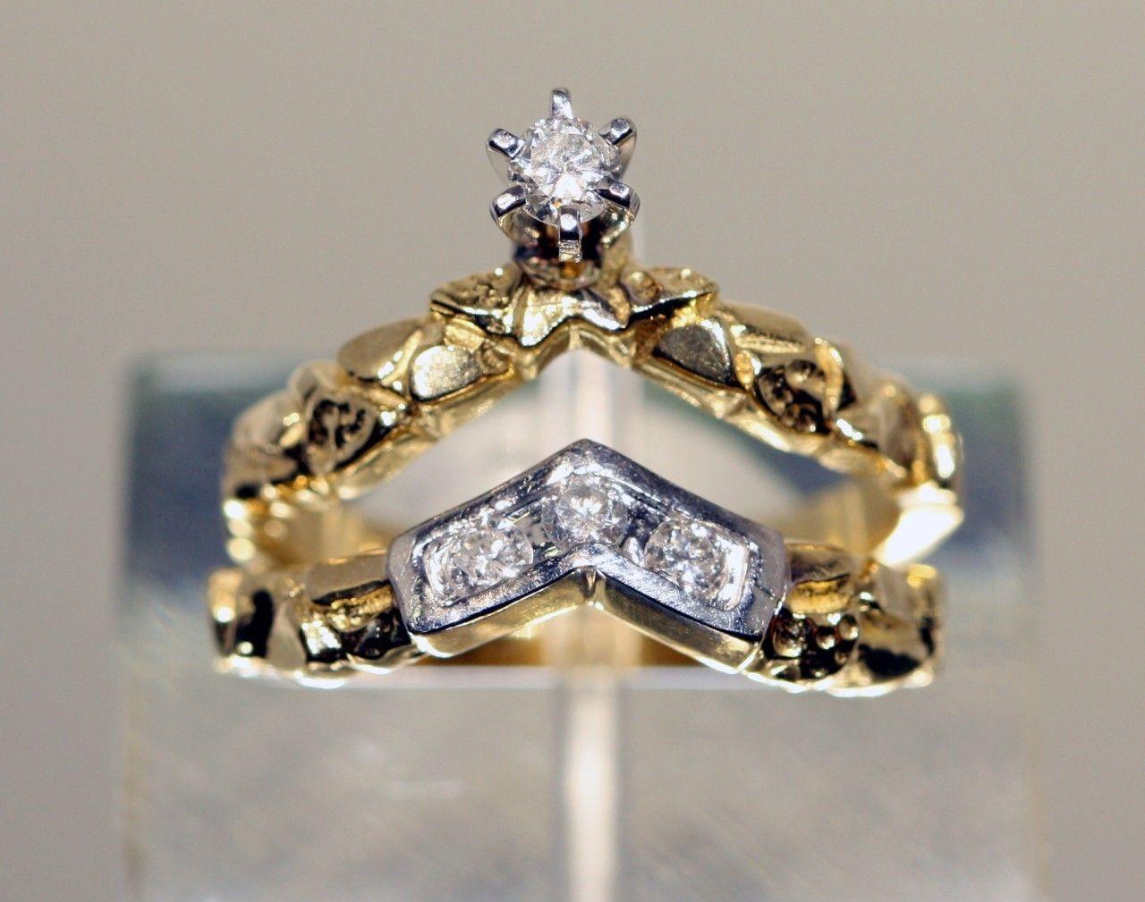 Citadel Diamond Group 14kt Yellow Nugget Gold Diamond Engagement Ring Gold Diamond Engagement Rings Diamond Engagement Band Engagement Ring
