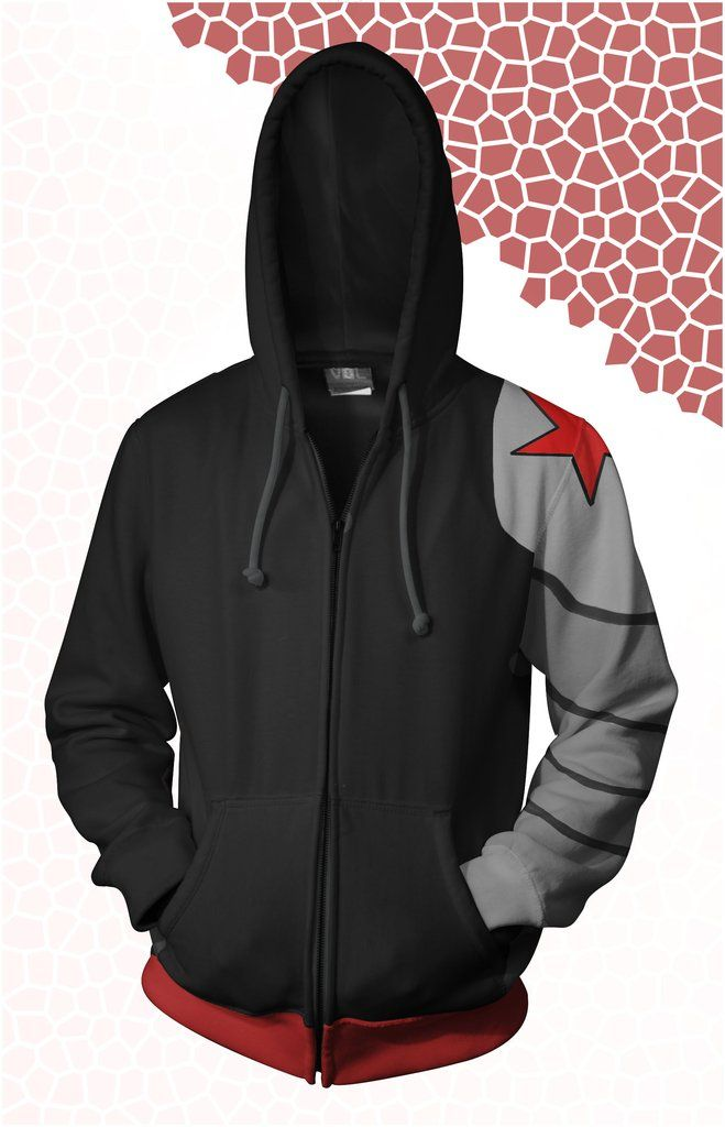 f2490f5cc6b1e4 Winter Soldier (Bucky Barnes) Hoodie - I would buy something like this in a  heartbeat.