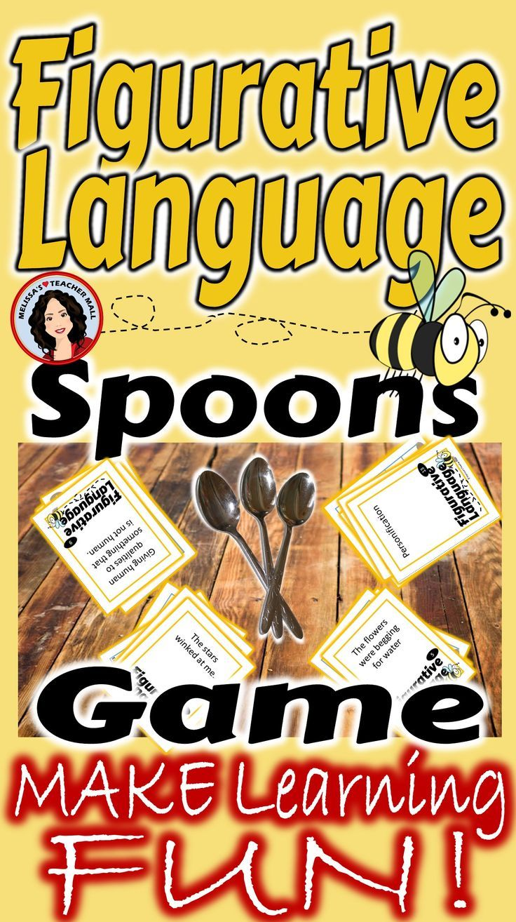 Figurative Language Spoons Game 3 Games Included | Teacher\'s Helper ...