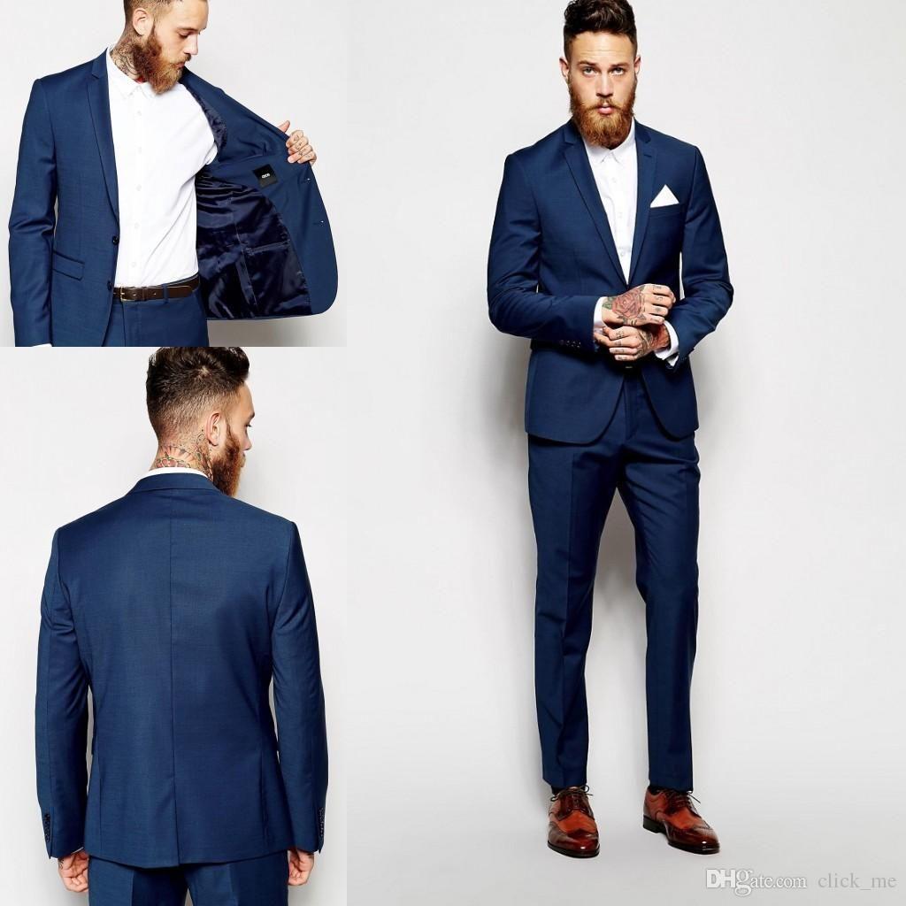 Navy Men/'s Wedding Suits Formal Groom Best Man Slim Fit Groomsmen Tuxedos Custom