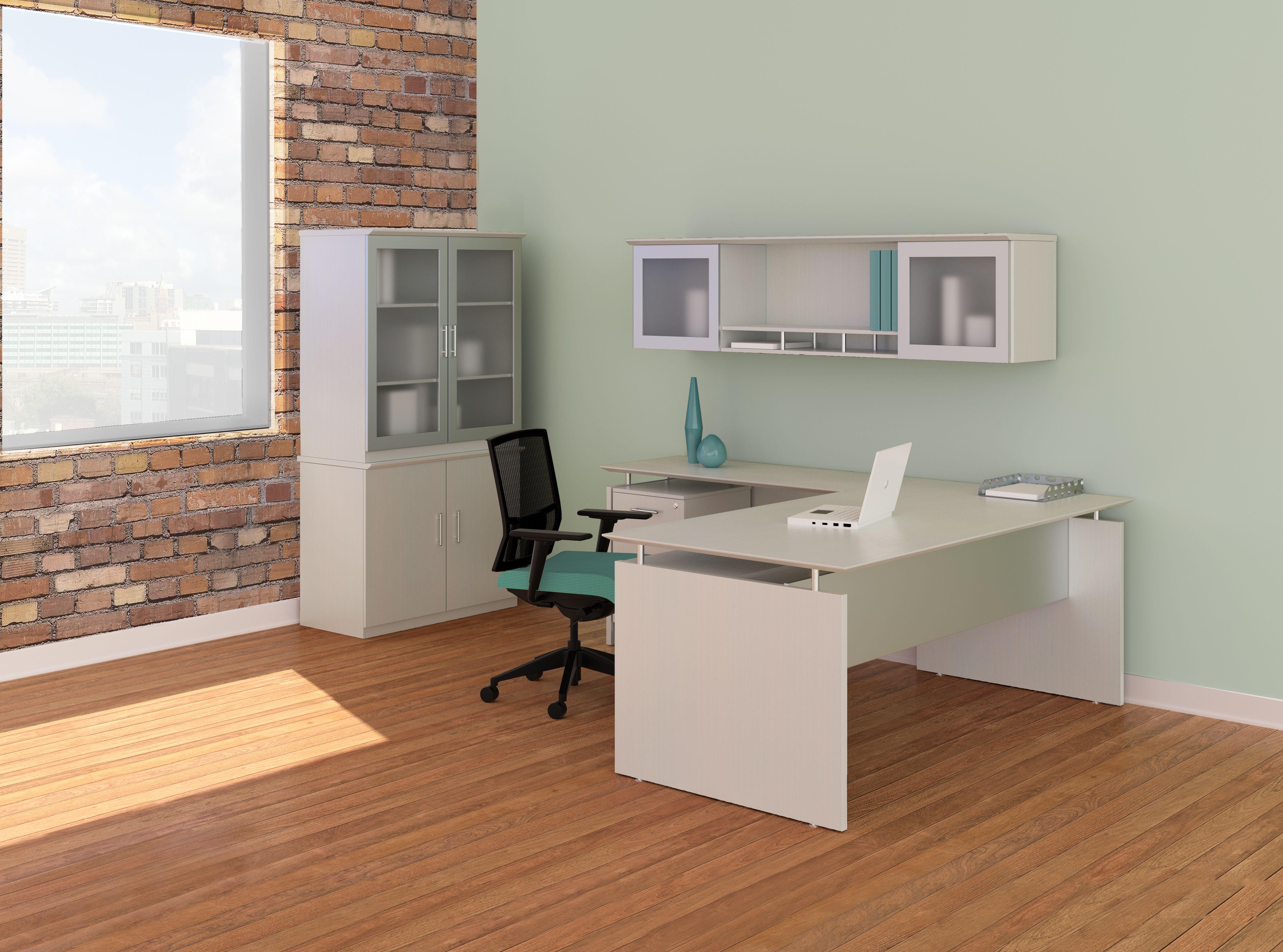 cool stuff for office desk. Medina Straight L Desk - Color: Sea Salt #neocon2015 Cool Stuff For Office