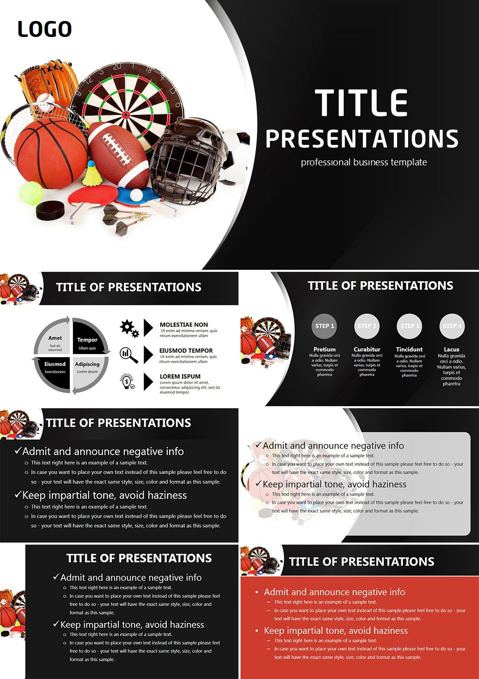 All objects for sports PowerPoint templates