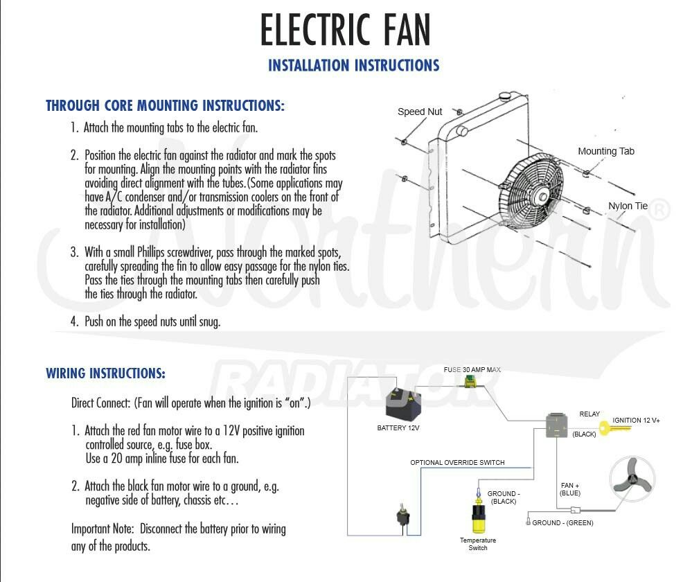 Electric fan and wiring install | Electric Fans | Electric ... on