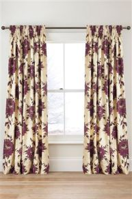 Mia Floral Printed Pencil Pleat Curtains