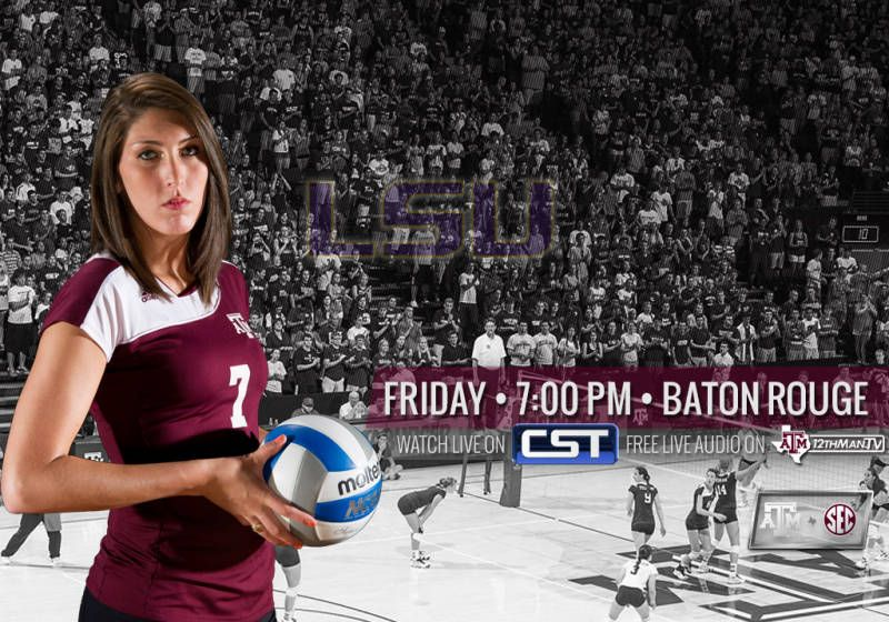 Volleyball Travels To Lsu South Carolina Texas A Aims To Stay Atop The Sec Western Division This Weekend As The Aggies Hit The R Lsu Baton Rouge Volleyball