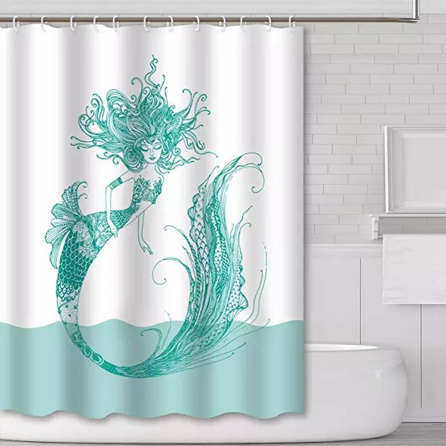 Amazon Com Mermaid Shower Curtain Mermaid Shower Curtain