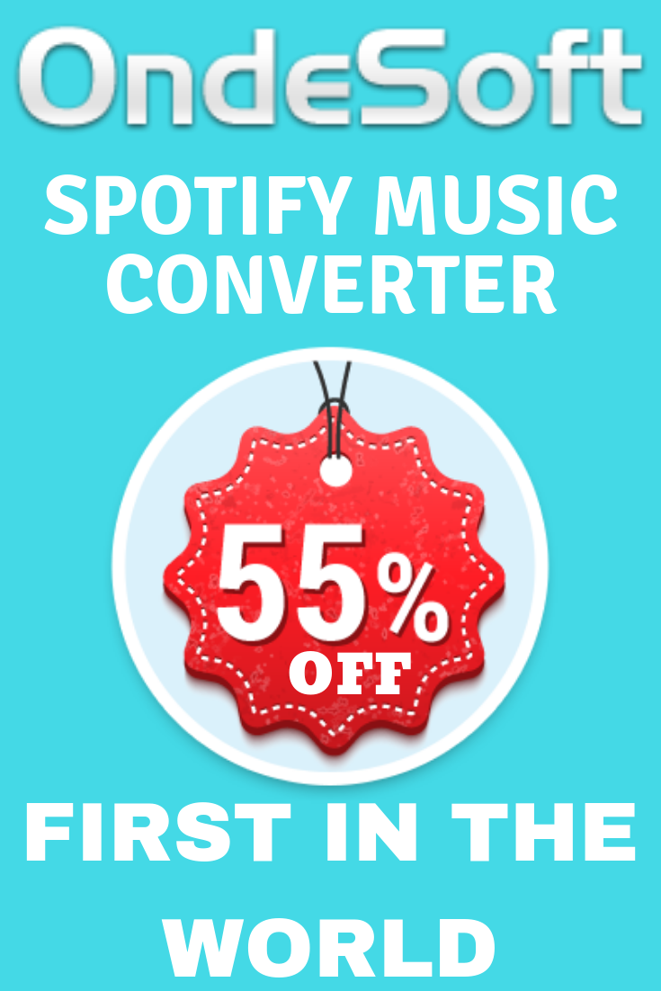 55 OFF Ondesoft spotify music converter for pcmac coupon