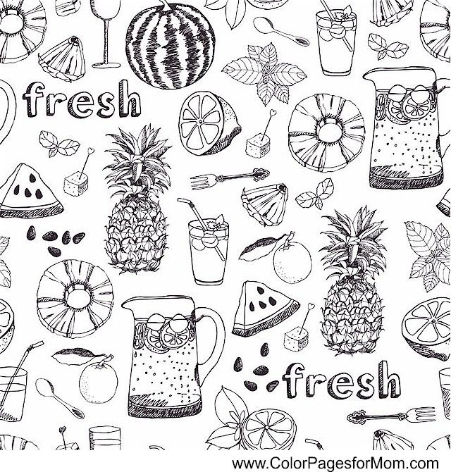 COFFEE TEA WINE Coloring Page LOOKS LIKE FRESH FRUIT FOR SANGRIA Sangria Is A Beverage Common In Spain And Portugal It Normally Consists Of Red Wine