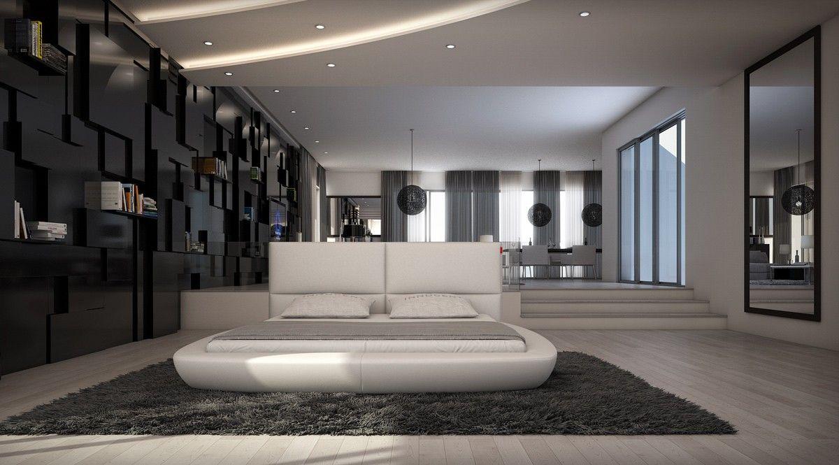 modrest ravello modern white ecoleather bed by vig furniture - Vig Furniture