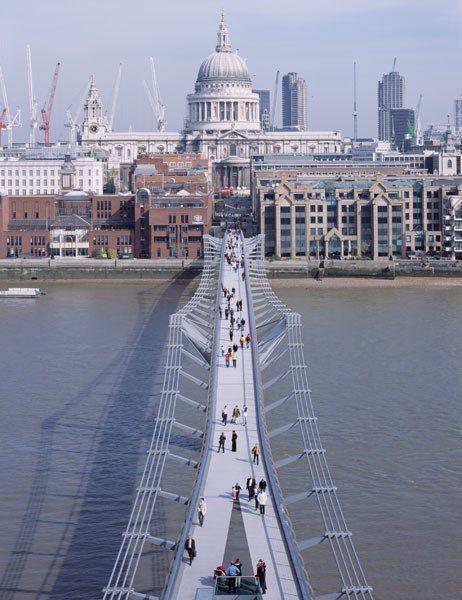 Lord Norman Foster's Millennium Bridge in London