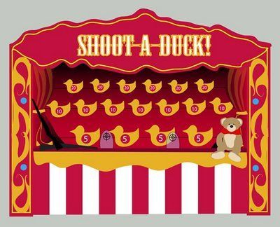 Image result for ducks in a shooting gallery