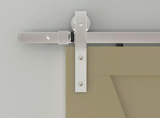 Barn Door Tracks Flat Track Series Chrome Barn Door Track And Strap Hardware Barn Door Barn Door Handles Door Handles