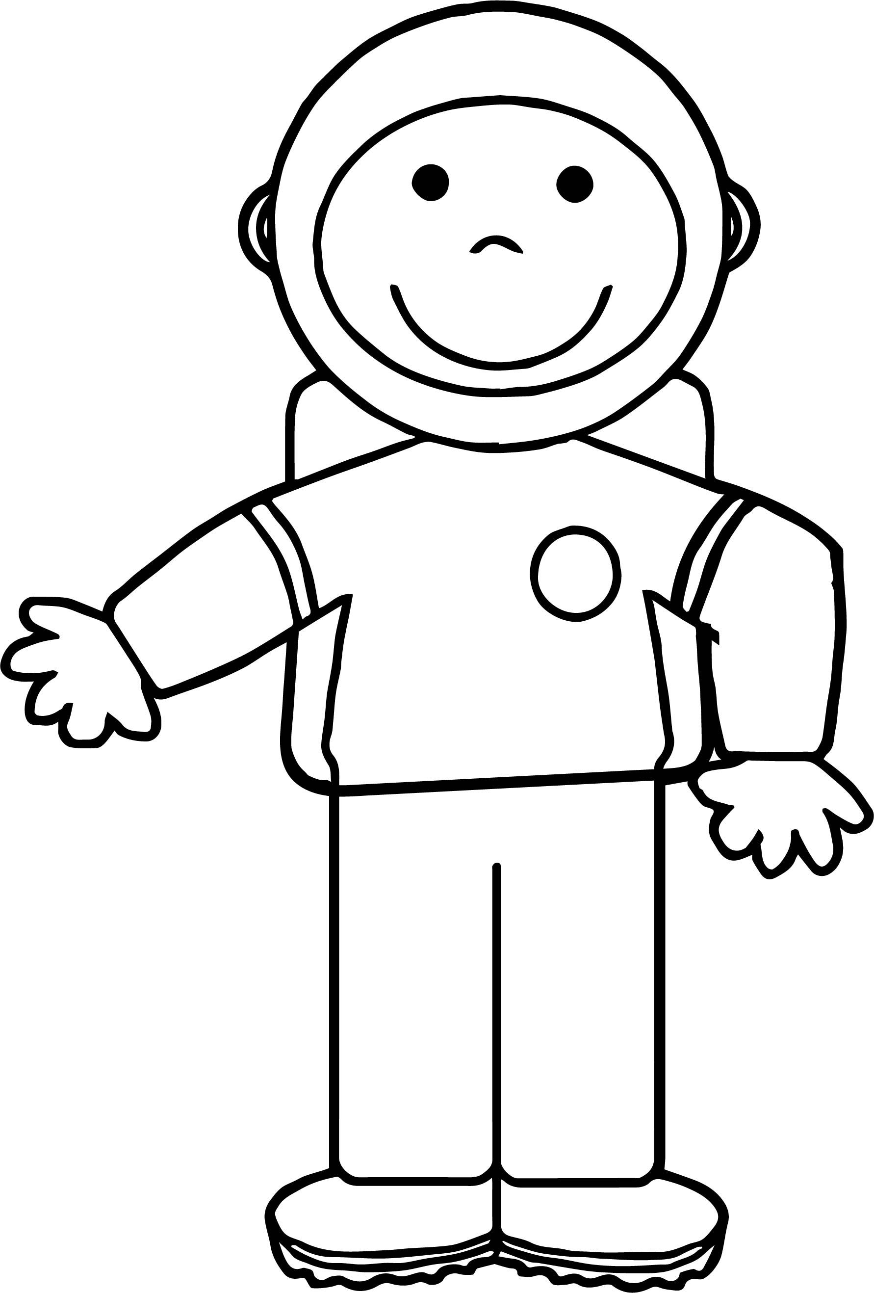 Kid Astronaut Coloring Page | Astronauts