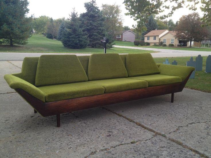 Great Flexsteel Thunderbird Mid Century Modern Sofa   Google Search