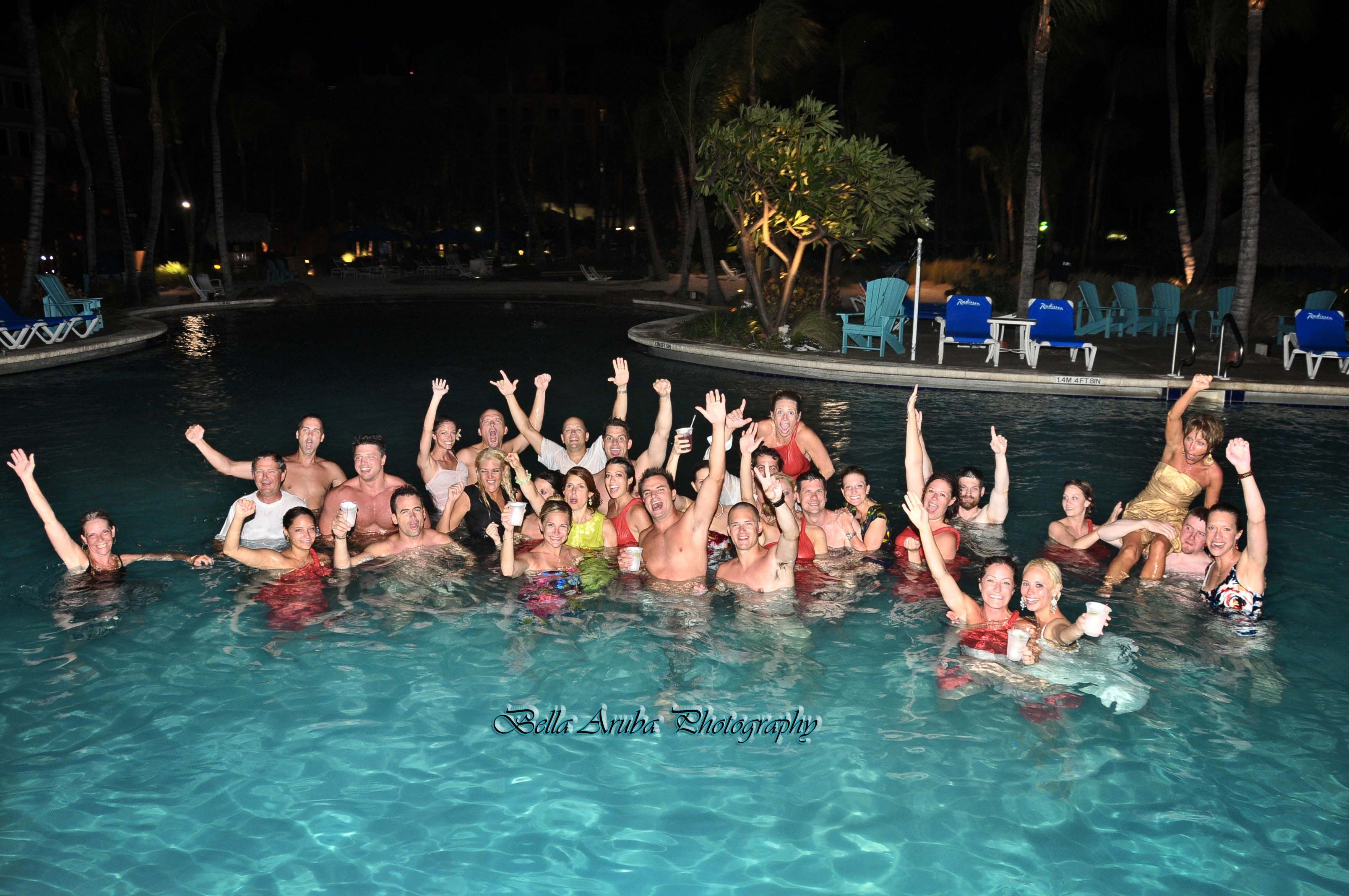 a tradition at the radisson aruba resort. lets party!!!! | hilton