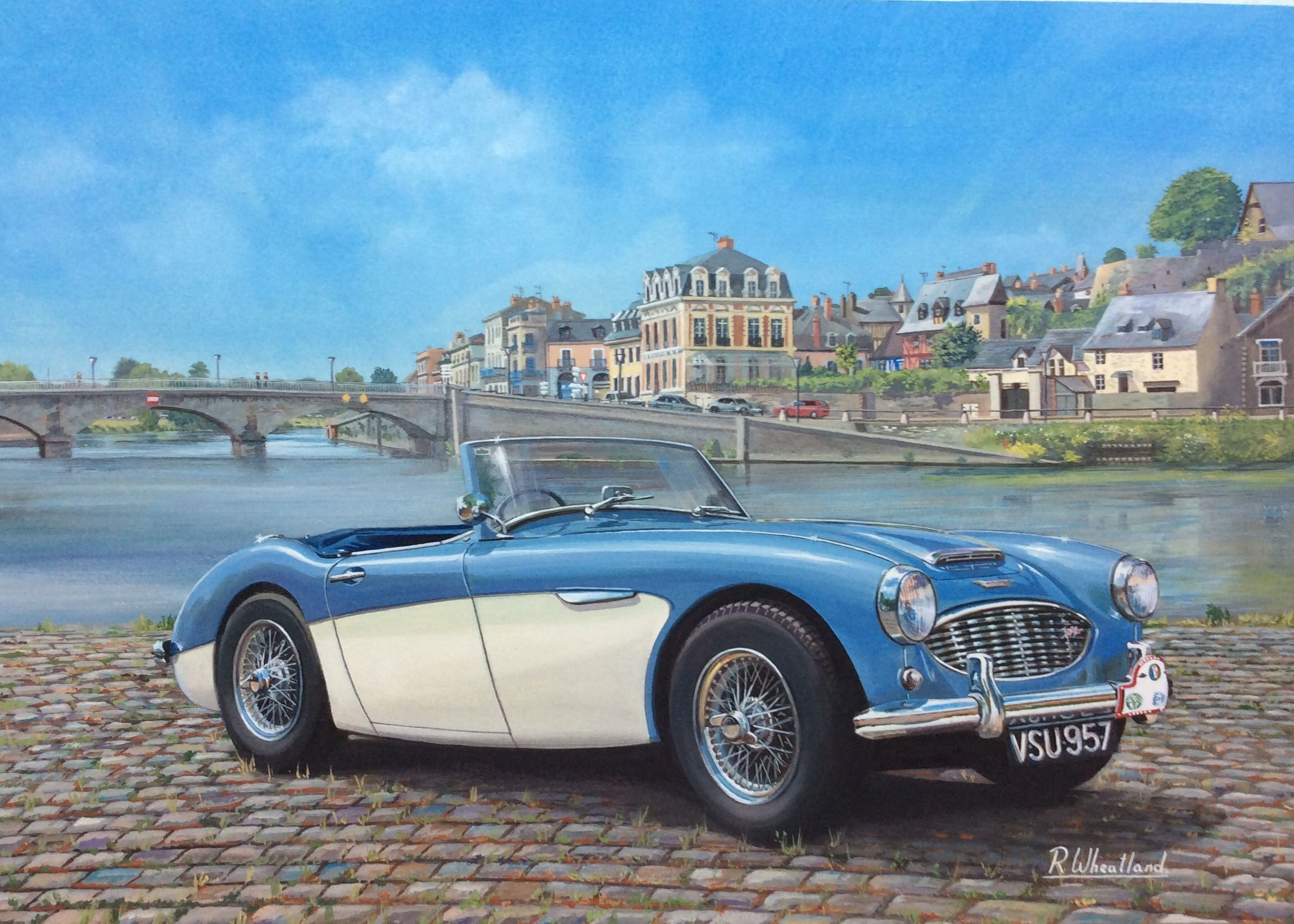 Austin Healey 100 6 Chateau Gontier Mayenne France Carros