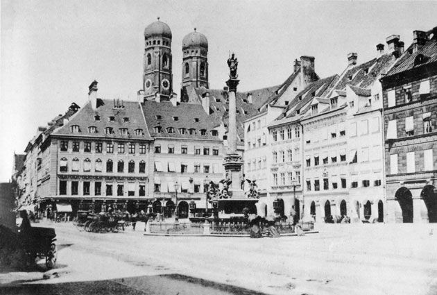 Marienplatz 1865 New Town Hall Not Yet Built Munchen Munchen Bayern Bilder