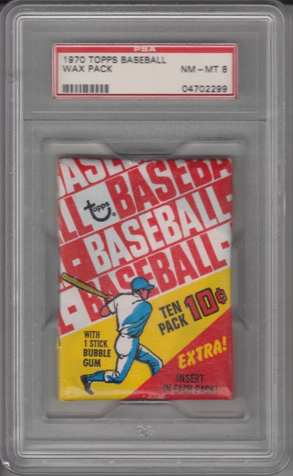 1970 topps baseball unopened wax pack psa 8 collect